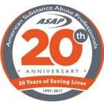 ASAP 20 year anniversary logo